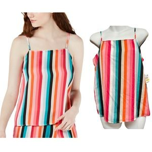 INC Multi-stripe Pajama Camisole PJ Top NWT!